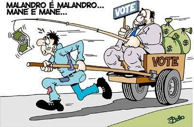 Resultado de imagem para charges sobre voto