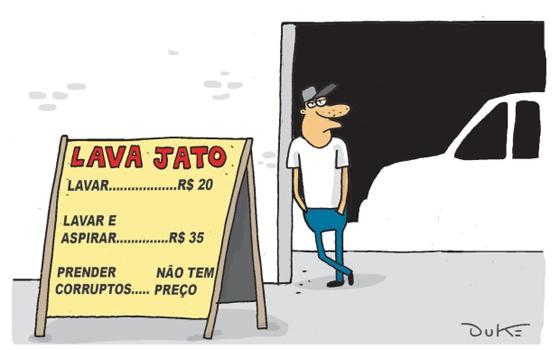 Resultado de imagem para reação dos corruptos a lava jato charges